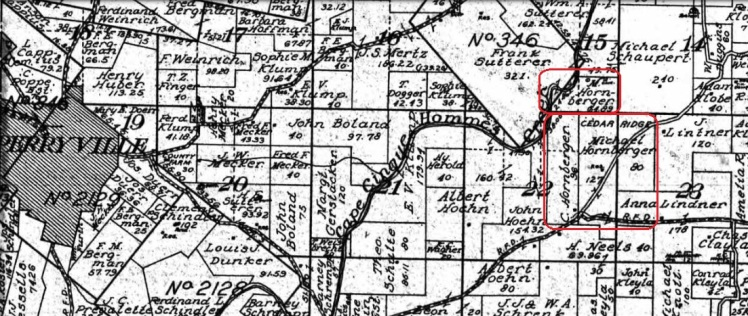 Michael Hornberger land map 1915
