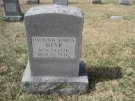 Paulina Meyr gravestone Immanuel New Wells MO