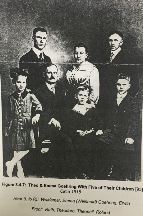 Theodore and Emma Goehring family