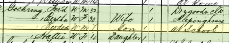 Theodore Goehring 1880 census St. Louis MO