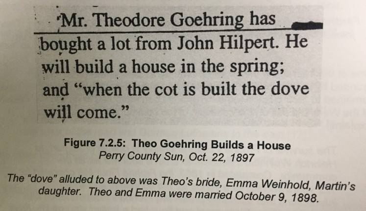 Theodore Goehring newspaper article 1897