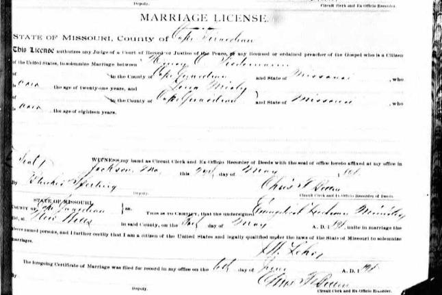 Tiedemann Mirly marriage license