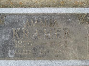 Amalia Kramer gravestone Concordia Frohna MO