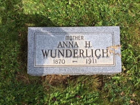 Anna Wunderlich gravestone Zion Germania WY