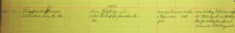 Bremer Haertling marriage record Immanuel New Wells MO