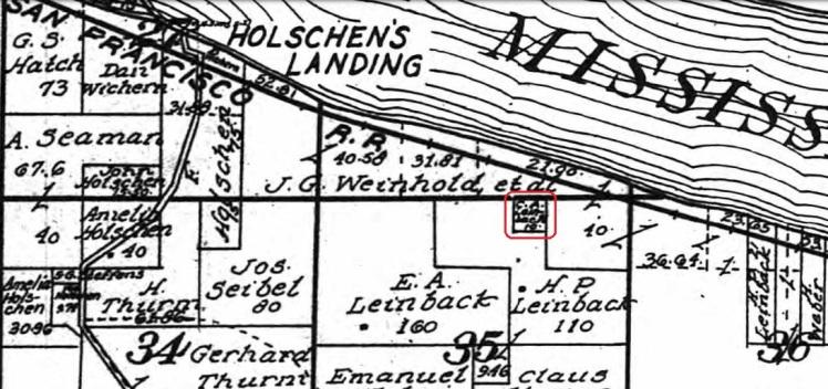 C.A. Leimbach land map 1915