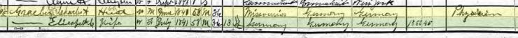 Carl August Graeber 1900 census 1 Meridan CT