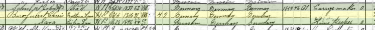 Carrie Puerfurst 1900 census St. Charles MO