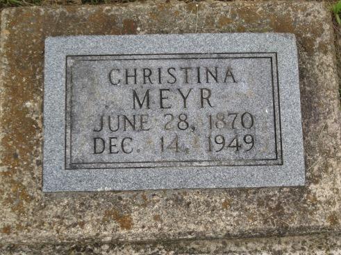 Christine Meyr gravestone Concordia Frohna MO