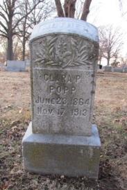 Clara Popp gravestone Concordia St. Louis MO