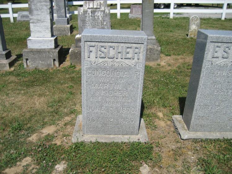 Concordia Fischer gravestone Trinity Altenburg MO