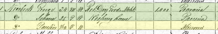 Concordia Neubeck 1870 census Altenburg MO