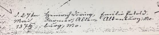 Doering Petzoldt marriage record Trinity Altenburg MO