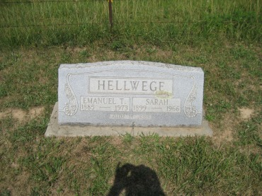 Emanuel and Sarah Hellwege gravestone Trinity Altenburg MO