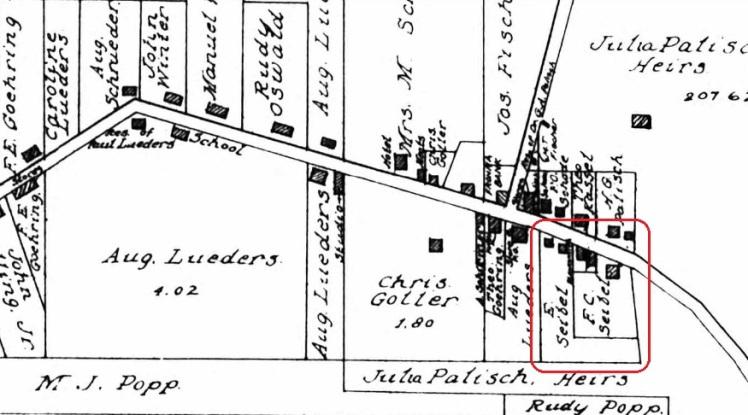 Emanuel Seibel land map 1915 Frohna