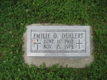 Emilie Oehlert gravestone Immanuel Perryville MO