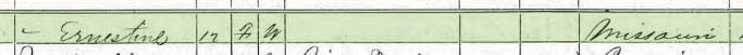 Ernestine Mueller 1870 census 2 Brazeau Township MO