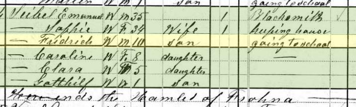 Frederick Seibel 1880 census Brazeau Township MO