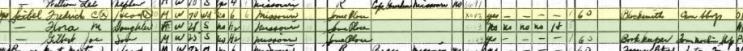 Frederick Seibel 1940 census Brazeau Township MO