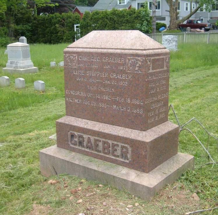 Graeber gravestone East Cemetery Meridan CT