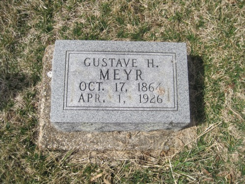 Gustav H. Meyr gravestone Immanuel New Wells MO