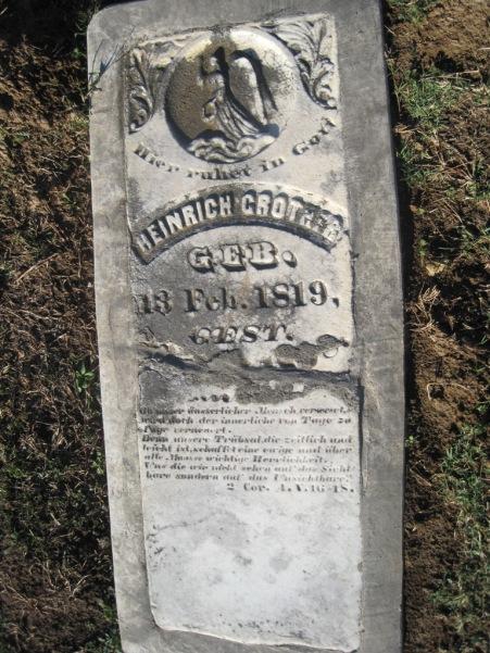 Heinrich Grother gravestone Immanuel Altenburg MO