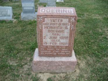 Henry Doering gravestone Trinity Altenburg MO