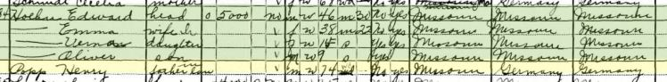 Henry Popp 1930 census St. Louis MO