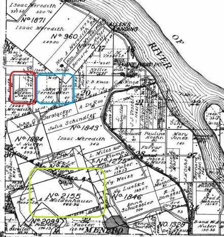 John Moldenhauer land map 1915