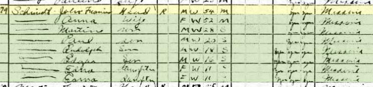 John Schmidt 1920 census Carrollton MO