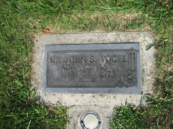 John Vogel gravestone Grace Uniontown MO