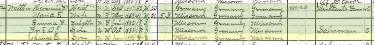 John Walther 1900 census Brazeau Township MO
