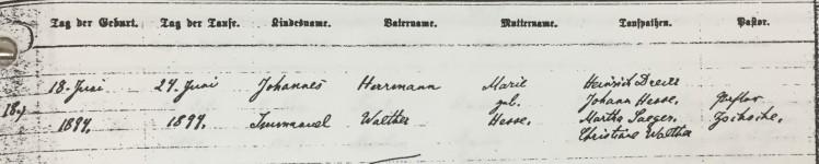 John Walther baptism record Trinity Altenburg MO