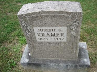 Joseph Kramer gravestone Concordia Frohna MO