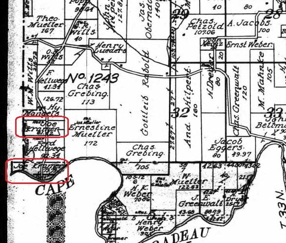 Joseph Kramer land map 1915