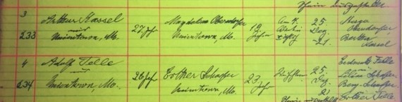 Kassel Oberndorfer marriage record Grace Uniontown MO