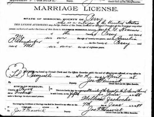 Kramer Oberndorfer marriage license