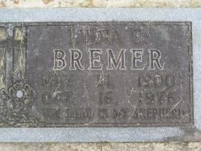 Lydia Bremer gravestone Concordia Frohna MO