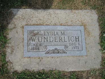 Lydia Wunderlich gravestone Trinity Altenburg MO