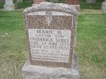Marie Seibel gravestone Concordia Frohna MO