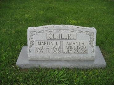 Martin and Amanda Oehlert gravestone Immanuel Perryville MO