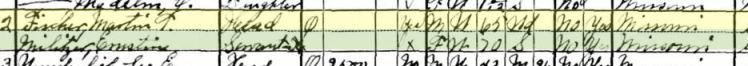 Martin Fischer 1930 census Brazeau Township MO