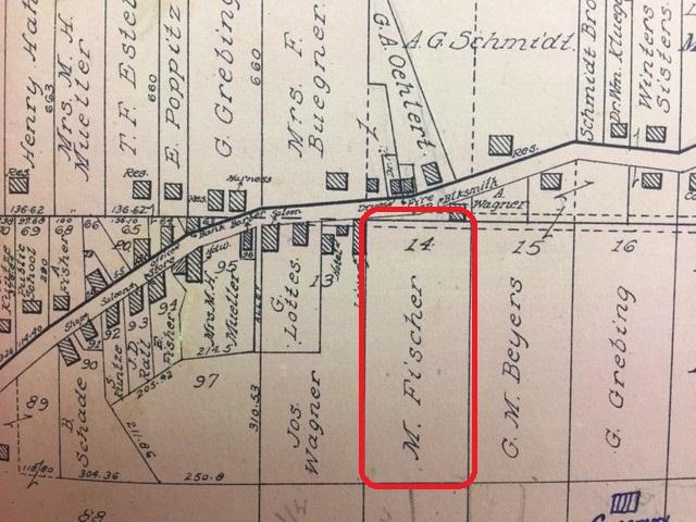 Martin Fischer land map 1915 Altenburg town