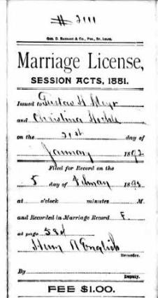 Meyr Hoehl marriage license