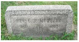 Rev. G.J. Mueller gravestone Grandview N. Versailles PA