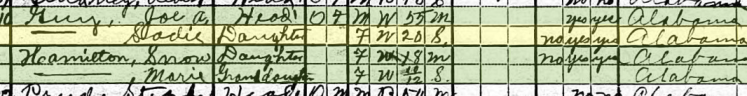 Sarah Guy 1920 census Tuscaloosa County, AL