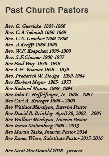 St. John Meridan CT list of pastors Graeber