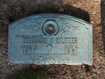 Theodore Militzer gravestone Cape County Memorial Cape Girardeau MO