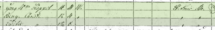 Wilhelm Happel 1860 census 2 St. Louis MO