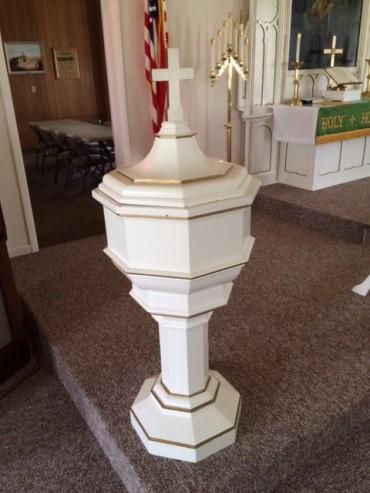 Zion Lutheran baptismal font